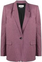 Etoile Isabel Marant one button micro check blazer
