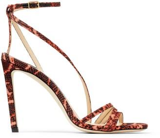 Jimmy Choo Snake-Print Tesca Sandals 100