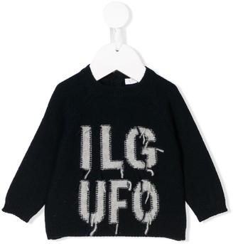 Il Gufo Logo Embroidered Sweater