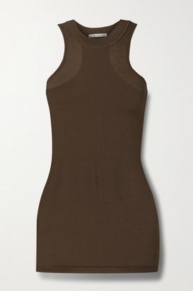 BITE Studios Ribbed Organic Cotton-jersey Tank - Light brown