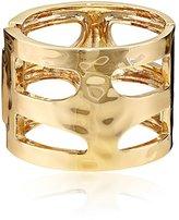 Robert Lee Morris Soho Seaglass Sculptural-Cutout Hinged Bangle Bracelet