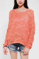 Sparkle & Fade Mesh Dolman Sweater
