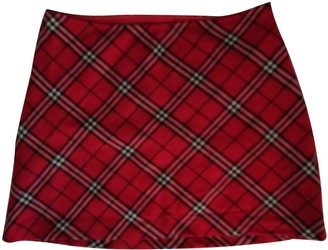 Max & Co. Red Wool Skirt for Women