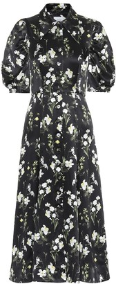 Erdem Gisella floral silk midi dress