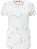 HUGO BOSS BOSS Orange Tishirti Bird T-Shirt, White