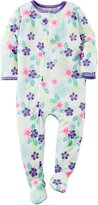 """Carter's Baby Girls' """"Tropical Blossoms"""" Footed Pajamas"""