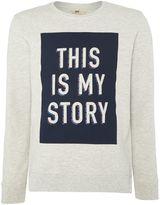 Lee Crew Neck This Is My Story Printed Sweatshirt