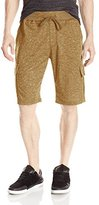 Southpole Men's Jogger Cargo Shorts In French Terry Basic Marled