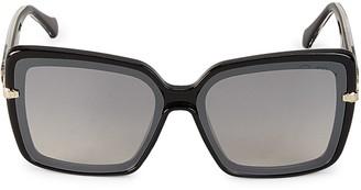 Roberto Cavalli Injected 65MM Oversized Square Sunglasses