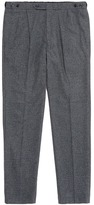 Camoshita Pleated leg wool blend pants