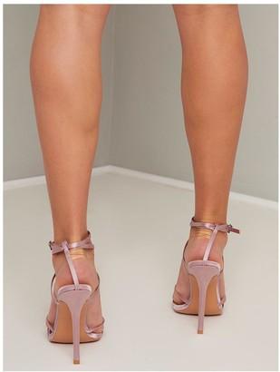 Chi Chi London Thalia Strappy Heels - Mink