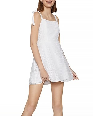 BCBGeneration Cotton Eyelet Skater Dress
