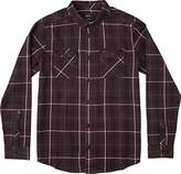 RVCA Men's treets Long Sleeve Woven Shirt