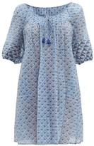 Thierry Colson Eva Geometric-print Dress - Womens - Blue