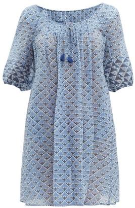 Thierry Colson Eva Geometric-print Dress - Womens - Blue