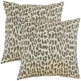 Ilandere Animal Print Throw Pillows, Linen, Set of 2