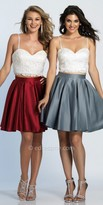 Dave and Johnny Box Pleated Two Piece Fit and Flare Cocktail Dress