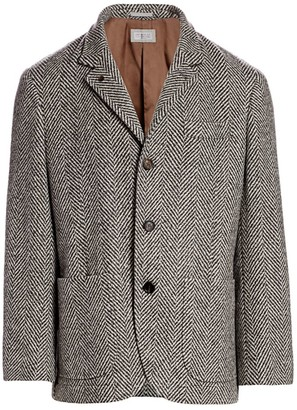 Brunello Cucinelli Chevron Patch Pocket Jacket