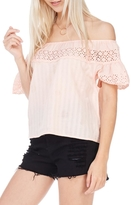 Everly Eyelet Off Shoulder Top