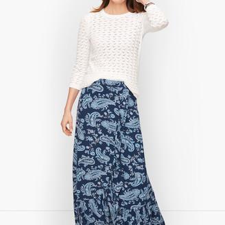 Talbots Cascading Knit Wrap Skirt