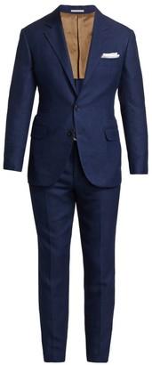 Brunello Cucinelli Textured Hopsack Suit