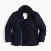 J.Crew Kids' wool melton bomber jacket