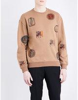Versace Patchwork Cotton Sweatshirt