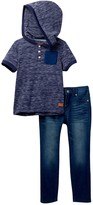 7 For All Mankind Hoody Tee & Pant (Toddler Boys)