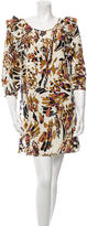 Tibi Long Sleeve Printed Silk Dress