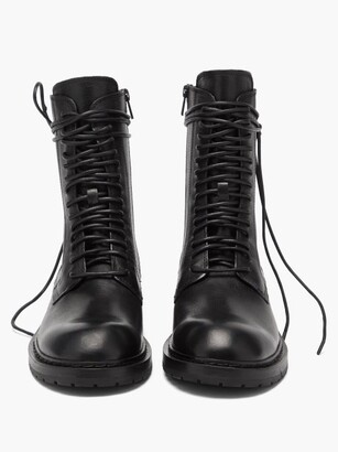 Ann Demeulemeester Danny Lace-up Leather Boots - Black
