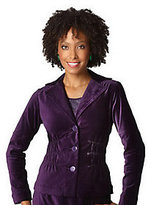 Joan Rivers Classics Collection As Is Joan Rivers Velvet Signature Jacket with Ruching Detail