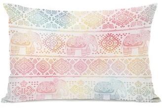 One Bella Casa Boho Ele Lumbar Pillow