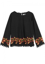 Velvet by Graham & Spencer Novelty Embroidered Cotton Top