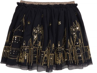 Boden Mini Hogwarts Embroidered Tulle Skirt
