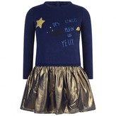 Catimini CatiminiBlue & Gold Stars In Your Eyes Dress