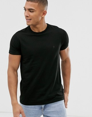 French Connection crew neck t-shirt-Black