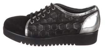 Aquatalia Embossed Low-Top Sneakers