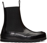Ann Demeulemeester Black Leather Chelsea Boots