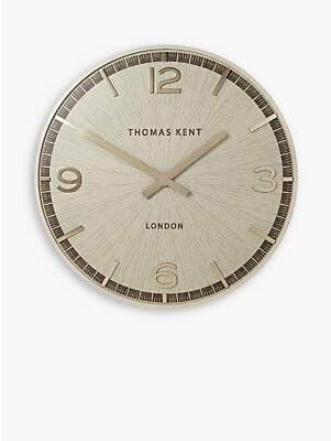 Thomas Laboratories Kent Large West Star Wall Clock, 90cm, White Oak