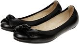 Accessorize Leather Elastic Bow Ballerina Flats