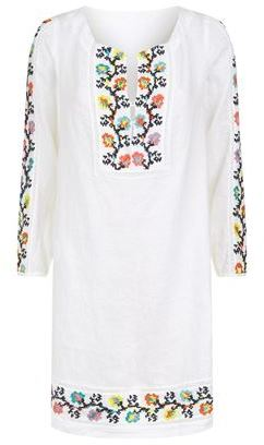 120% Lino Embroidered Linen Tunic