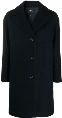 A.P.C. Wide-Collar Single-Breasted Coat