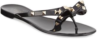 Valentino Rockstud PVC Flat Thong Sandals