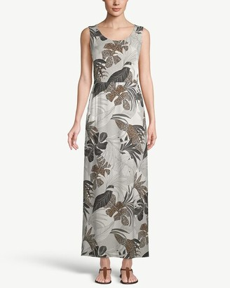 Chico's Palm-Print Maxi Dress