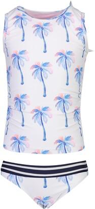 Snapper Rock Palm Print Two-Piece Tankini Swimsuit