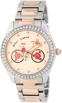 Betsey Johnson Women's Biking with Betsey Crystal Bracelet Watch
