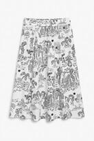 Thumbnail for your product : Monki Cotton drawstring midi-skirt
