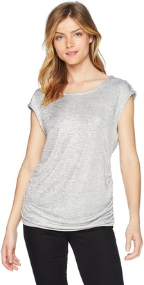 Calvin Klein Women's Sleeveless FOIL TOP with Buttons