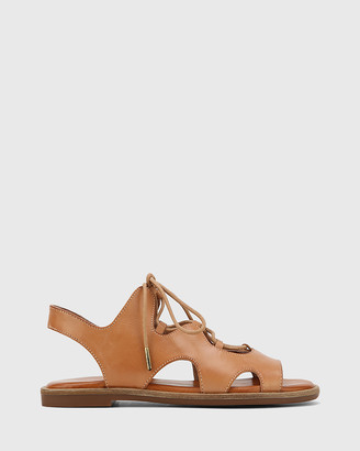 Wittner - Women's Brown Sandals - Crowe Leather Lace Up Sandals - Size One Size, 40 at The Iconic
