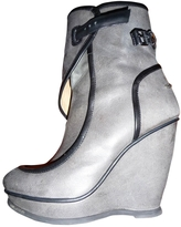 Balenciaga Grey Leather Ankle boots